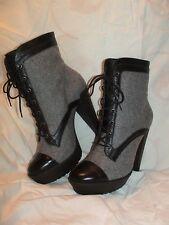 Pour la Victoire Dayton brown gray ankle boots shoes 10