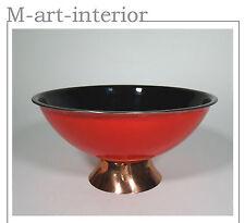 Emaille Schale auf Kupfer 50er Enamel Copper Bowl Mid Century Modern vintage