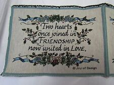 Two Hearts Joined in Friendship United in Love wedding Tapestry Pillow top Panel
