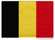 BELGIUM FLAG embroidered iron-on PATCH BELGIAN EMBLEM souvenir applique