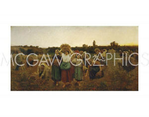 BRETON JULES ADOLPHE - THE RETURN OF THE GLEANERS,1859 - ART PRINT POSTER (2188)