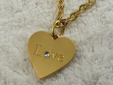 Heart Pendant Necklace (A11) Nine West Goldtone Love