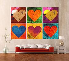 HEARTS HEARTS HEARTS Leinwand POP ART Bilder Modern Geschenkidee Valentinstag XL