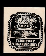 PNG  stamp duty  revenues  black  10/-