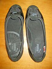Puma Eco Ortholite Womens 8 Black Ballet Flats Shoes Suede Patent Leather, Mesh