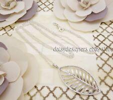 NEW Authentic Pandora Silver PALM Leaf Necklace Pendant 390370CZ