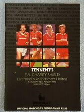 1990 - CHARITY SHIELD PROGRAMME - LIVERPOOL v MANCHESTER UTD - V.G CONDITION