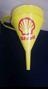 NEW ** VINTAGE STYLE LARGE SHELL OIL FUNNEL DIESEL PETROL RETRO
