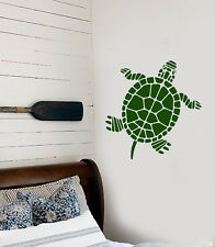 Vinyl Wall Decal Abstract Beach Style Land Turtle Animal Stickers (2929ig)