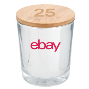 25th Anniversary Bamboo Soy Candle - Silver