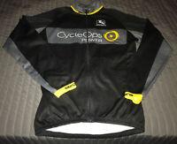 Giordana Mens Road Cycling Mens Race Fit Jersey  Black/gray/yellow