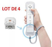4 X wii motion plus pour Nintendo Wii - motionplus pour manette wiimote - blanc