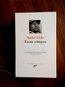 La Pléiade André Gide Essais critiques
