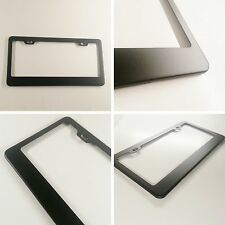 Matte Black Powder Coated License Plate Tag Frame Light Weight Stainless Steel