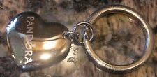 AUTHENTIC PANDORA ENGRAVED HEART KEY RING CHAIN BEAD CHARM SILVER BRAND NEW NWOT
