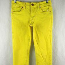 CAbi Jeans Women's Pants Denim Cotton Blend Stretch Straight Sunny Yellow Size 2