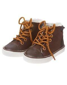 GYMBOREE BUFFALO LODGE BROWN SHERPA LINED BOOTIES 10 NWT
