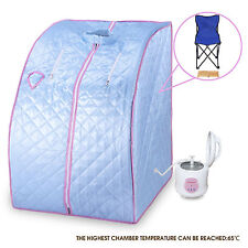 2L Home Steam Blue Sauna Spa Full Body Slimming Loss Weight Detox Indoor Therapy