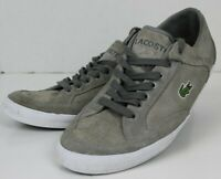 LACOSTE HANEDA GRAY SUEDE TENNIS CASUAL ATHLETIC SHOE MEN SIZE 9.5 FREE SHIPPING