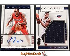 16-17 Galloway & Cheick Diallo National Treasures Patch Auto RC /99 - 2 Card Lot