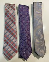 3 Stafford Men's Silk Neck Ties, 100% silk. Excellent Condition