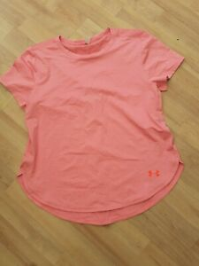 Ladies Bnwot Under Armour Size L 16 Pink  Gym Top