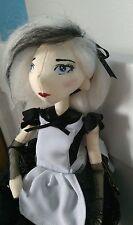 Unique Goth Alice au pays des merveilles, Handmade Art doll,