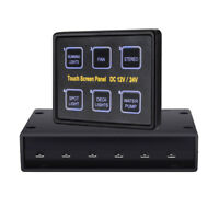 12/24V 6Gang LED Switch Touch Screen Panel Capacitive For Boat Caravan RV Marine