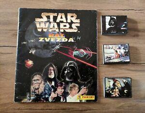 Panini STAR WARS 1997 empty album + complete set stickers + poster stickers