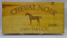 CHEVAL NOIR SAINT EMILION 1996 Façade caisse bois