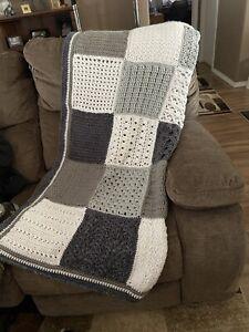 Handmade Crochet Afghan / Throw blanket Gray's