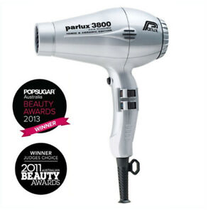 NEW, Parlux 3800 Eco Friendly Ceramic & Ionic Dryer 2100W - Silver