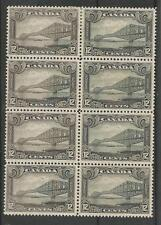 CANADA SG 282 THE 1929 GV 12c GREY BLACK  IN UNUSED BLOCK OF 8 CAT £208+