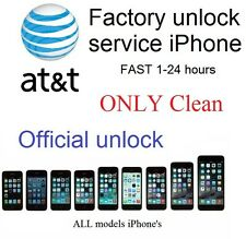 Factory unlock service code AT&T att iphone 4 4s 5 5s 6 6s 7 (only clean) 1-24 H