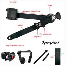 2pcs/Set Adjustable Retractable 3Point Safety Auto Car Truck Seat Belt Lap Belt