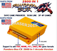 NEW PANDORA BOX CX 2800 in 1 JAMMA Arcade Game Board VGA HDMI Pandoras US Seller