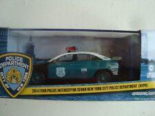 Miniature 2014 Ford Police Interceptor Sedan NYPD Greenlight 1/43