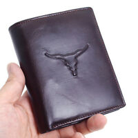 Mens Genuine Leather Wallet Credit Card Holders Zipper Coin Pocket Bifold Purse