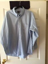 Calvin Klein Mens Shirt Size 16 1/2 32/33 Light Blue Button Down Long Sleeve