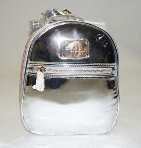 BEBE Kylie Metallic Silver MINI Backpack