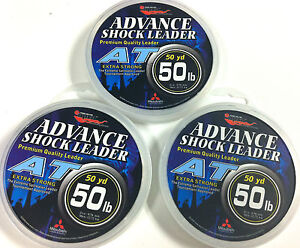 "EUPRO ""AT"" LEADER LINE 15lb - 80lb - 50 YARD SPOOL - CLEAR--SALTWATER LEADER"
