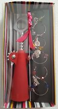 NEW CORKSCREW & 6 WINE GLASS CHARMS, WITH BOX, CIRCA : 2000'S, FREE COLLECTION..