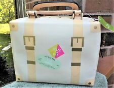 NWT Kate Spade Print Porcelain Leather Tiny Trunk Bag Purse Sand Hill Circle