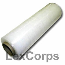 "Stretch Wrap 4 Rolls 18"" X 1500 Feet 80 Gauge Move Pallet Luggage Plastic Shrink"