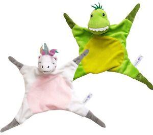 Baby Boys and Girls Teddy Unicorn Comforter Sleep Snuggle Blanket Soft Cot Toy