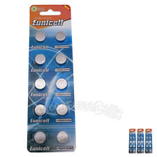30 pcs AG13 GP76 357A SR44SW RW42 1.5V Alkaline Button Cell Battery EuniCell