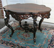 BEAUTIFUL VICTORIAN LAMINATED ROSEWOOD MEEKS CENTER TABLE