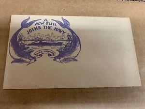 A New Fish Joins The Navy Vintage Envelope Unused  (Folder 3993)