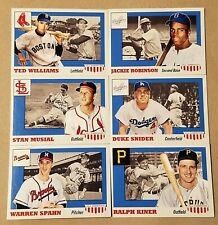 2016 Topps Jackie Robinson Ted Williams Musial TBT 6) set 4 #19-24 1955 PR-775