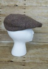 3f8f41cde71a4 Vtg Britches Great Outdoors Harris Tweed Wool Cabbie Newsboy Hat Cap Sz M  Brown